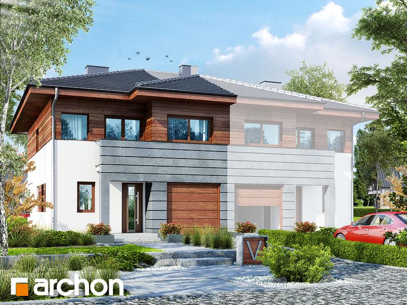 Проект дома ARCHON+ Вилла Юлия (Б) - Визуализация 1