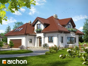Проект дома ARCHON+ Дом под каркасом ver.2