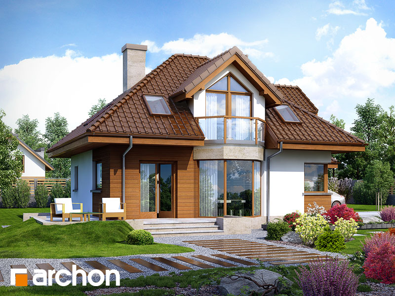 Проект дома ARCHON+ Дом в рукколе (H) - Визуализация 2