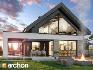 Проект дома ARCHON+ Дом в дабециях (М)