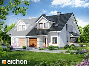 Проект дома ARCHON+ Дом в клематисах 7 (Б) ver.3