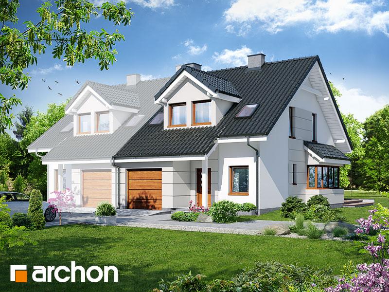 Проект дома ARCHON+ Дом в клематисах 7 (Б) ver.3 - Визуализация 1