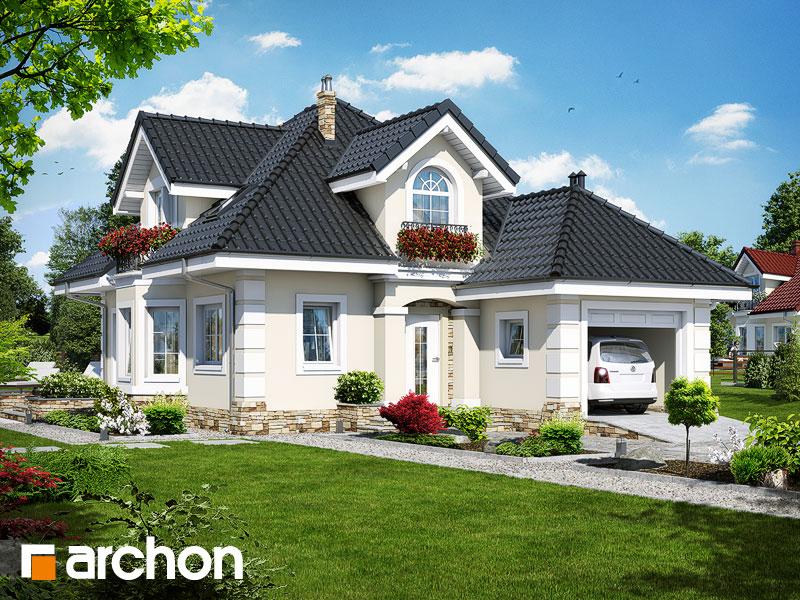 Проект дома ARCHON+ Дом в рукколе (П) - Визуализация 1