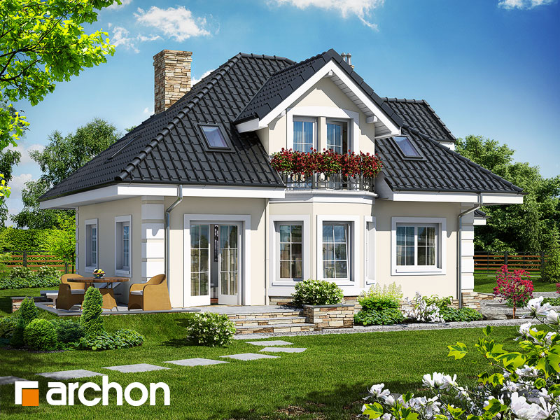 Проект дома ARCHON+ Дом в рукколе (П) - Визуализация 2
