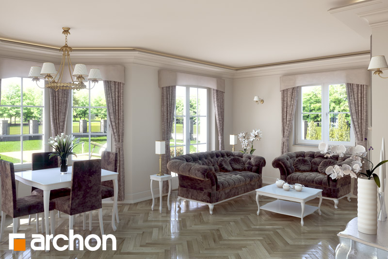 Проект дома ARCHON+ Дом в рукколе (П) - Интерьеры