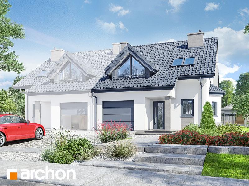 Проект дома ARCHON+ Дом в клематисах 2 ver.3 - Визуализация 1