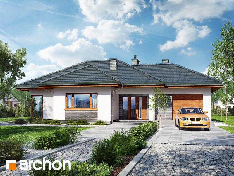 Проект дома ARCHON+ Дом в раванах - Визуализация 1