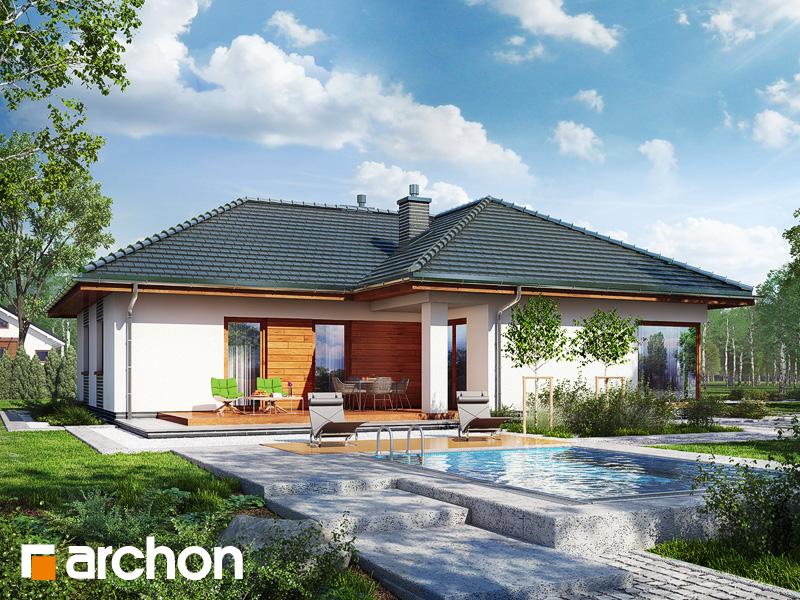 Проект дома ARCHON+ Дом в раванах - Визуализация 2