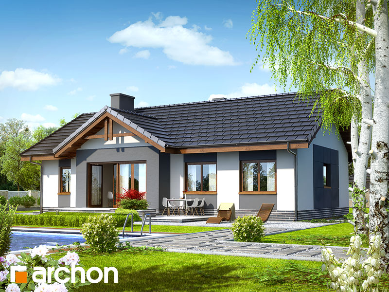 Проект дома ARCHON+ Дом в неринах  ver.2 - Визуализация 2