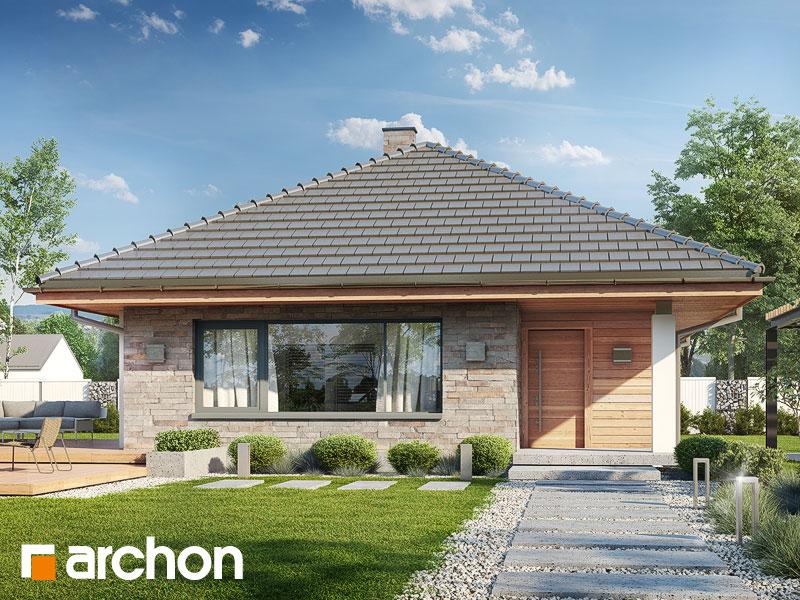 Проект дома ARCHON+ Дом в сирени ver.2 - Визуализация 1