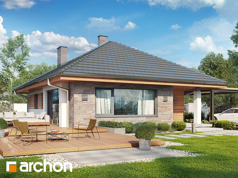 Проект дома ARCHON+ Дом в сирени ver.2 - Визуализация 2