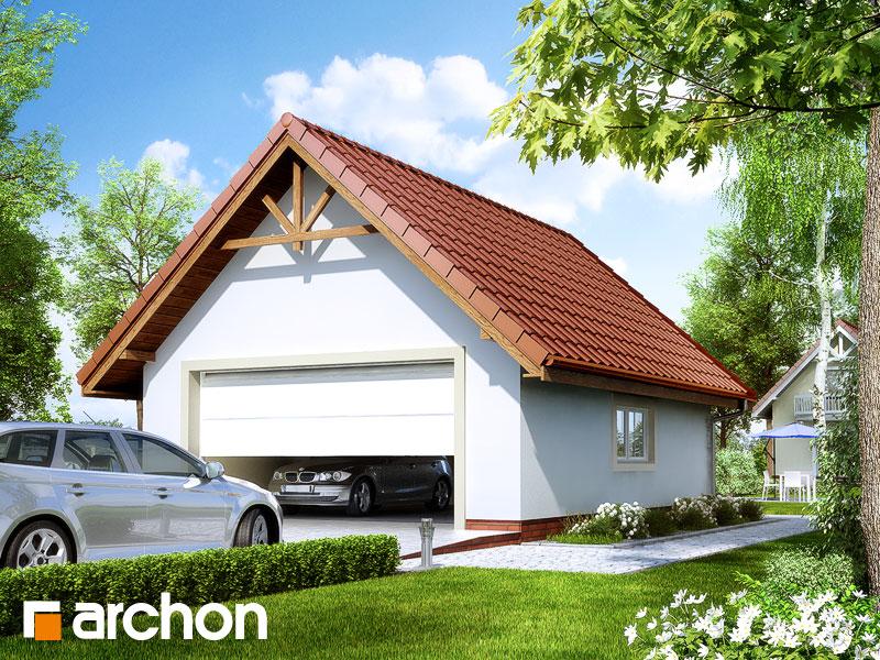 Проект дома ARCHON+ Г6 - Двухместный гараж - Визуализация 1