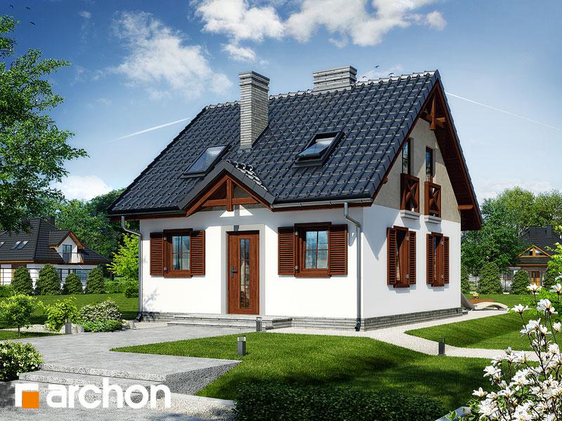 Проект дома ARCHON+ Дом в бруснике - Визуализация 1