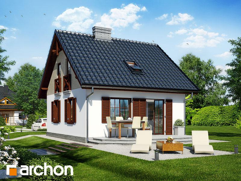 Проект дома ARCHON+ Дом в бруснике - Визуализация 2