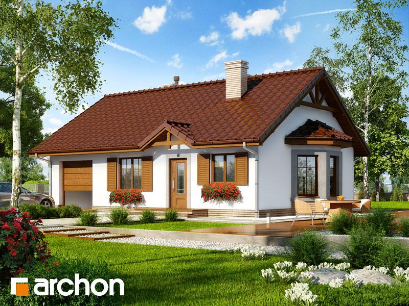 Проект дома ARCHON+ Дом в ягодах 2 - Визуализация 1