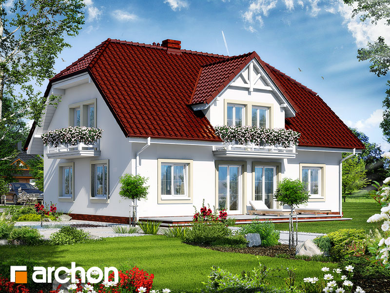 Проект дома ARCHON+ Дом в гладиолусах 2 - Визуализация 2