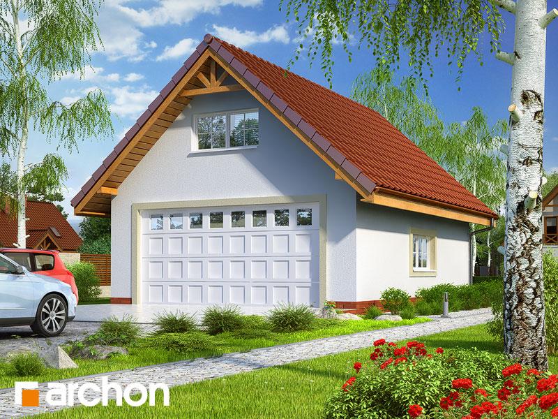Г6a - Двухместный гараж - Визуализация 1
