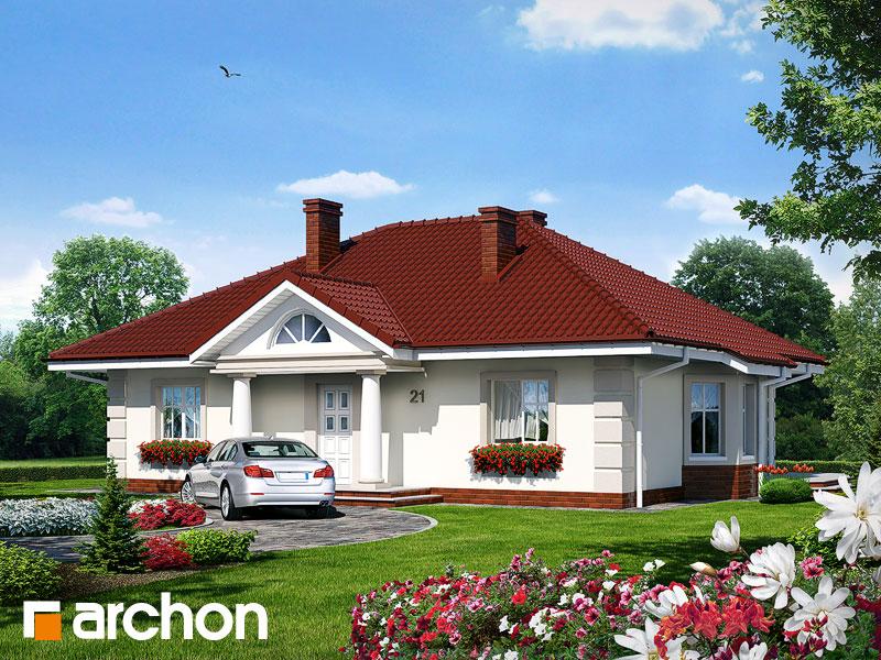 Проект дома ARCHON+ Дом под красной рябиной - Визуализация 1