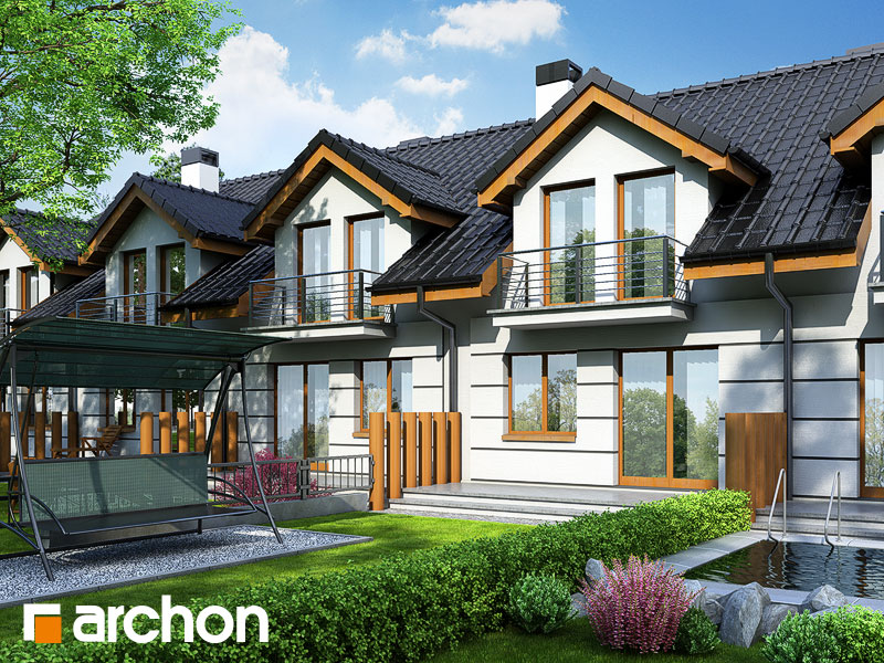 Проект дома ARCHON+ Дом под гинко - Визуализация 2