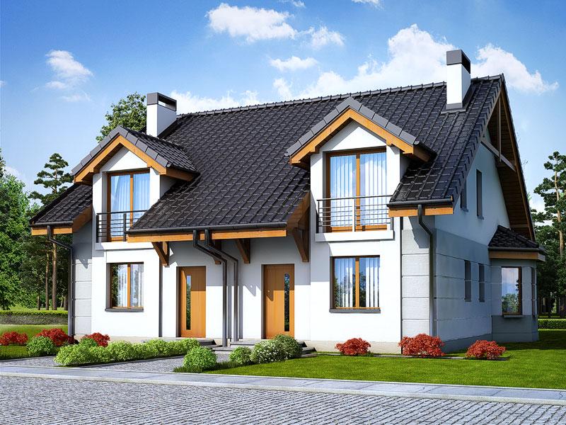 Проект дома ARCHON+ Дом под гинко 2 - Визуализация 1