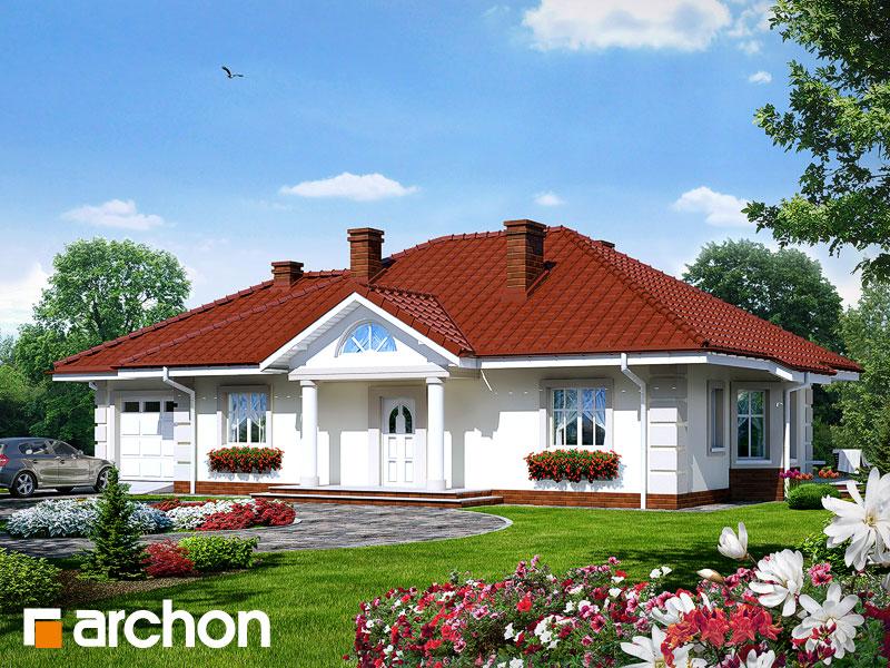 Проект дома ARCHON+ Дом под красной рябиной (Г) - Визуализация 1
