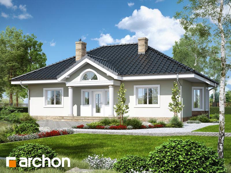 Проект дома ARCHON+ Дом под красной рябиной 12 - Визуализация 1