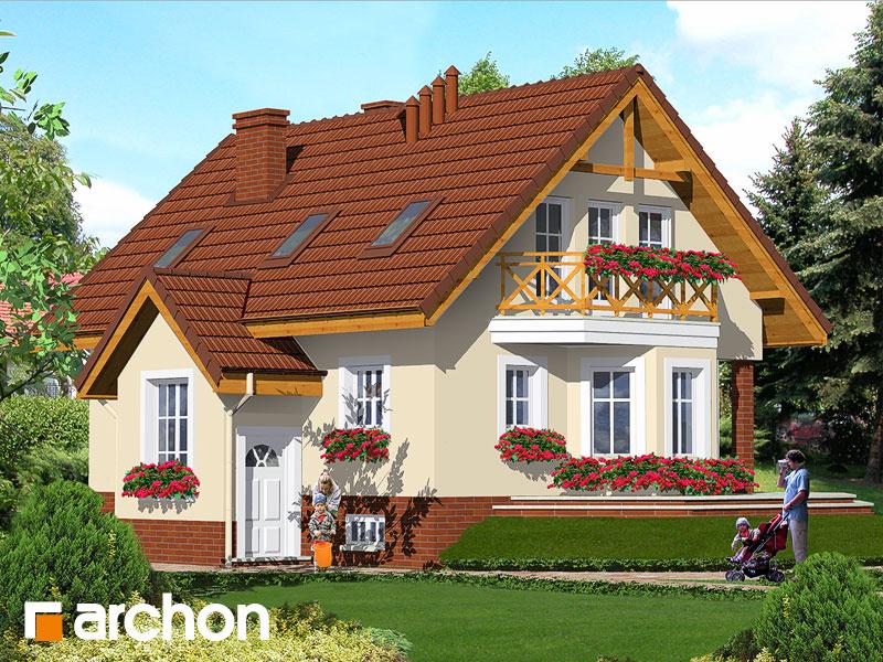 Проект дома ARCHON+ Дом в шафране - Визуализация 1