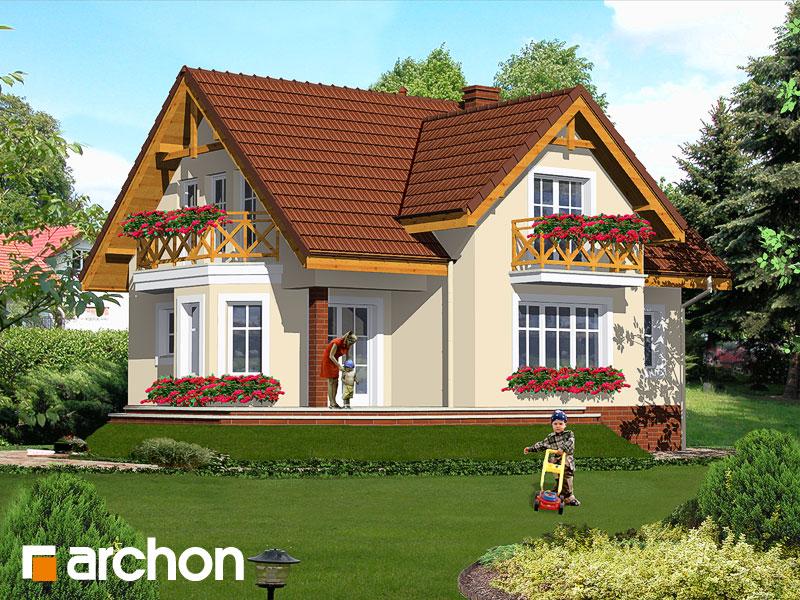 Проект дома ARCHON+ Дом в шафране - Визуализация 2