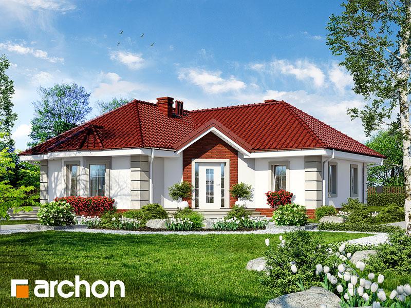 Проект дома ARCHON+ Дом в пустырнике - Визуализация 1