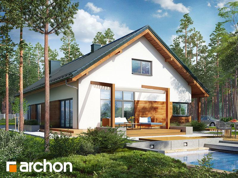 Проект дома ARCHON+ Дом в мекинтошах 5 (Г2) - Визуализация 1