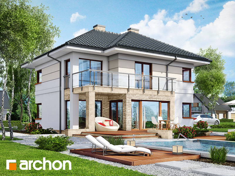 Проект дома ARCHON+ Вилла Элиза 2 - Визуализация 1