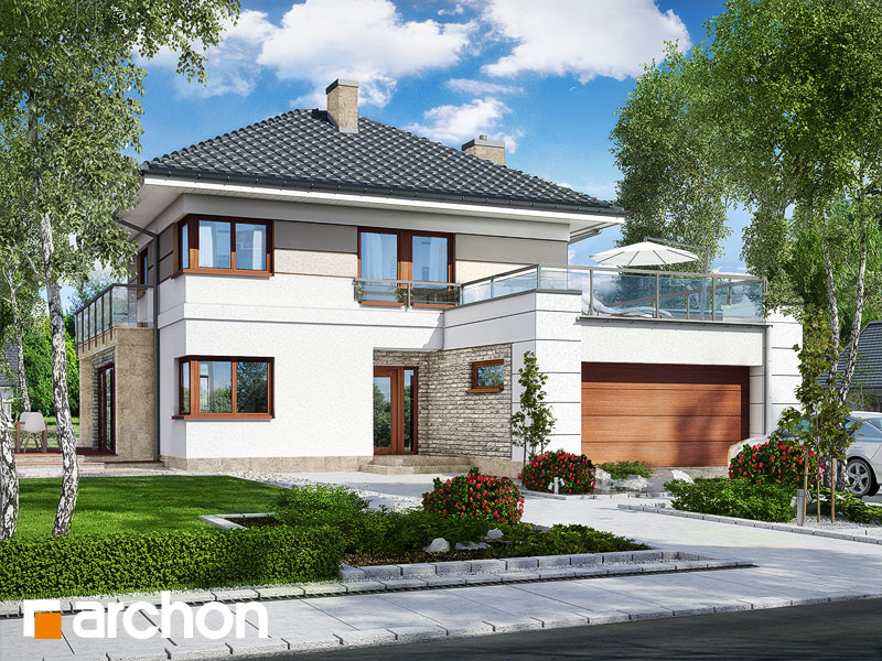 Проект дома ARCHON+ Вилла Элиза 2 - Визуализация 2