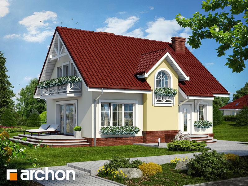 Проект дома ARCHON+ Дом в солодках - Визуализация 1