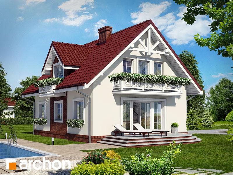 Проект дома ARCHON+ Дом в солодках - Визуализация 2