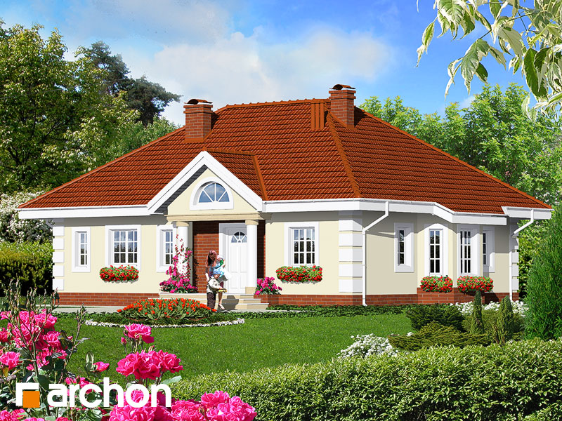 Проект дома ARCHON+ Дом в оливках - Визуализация 1