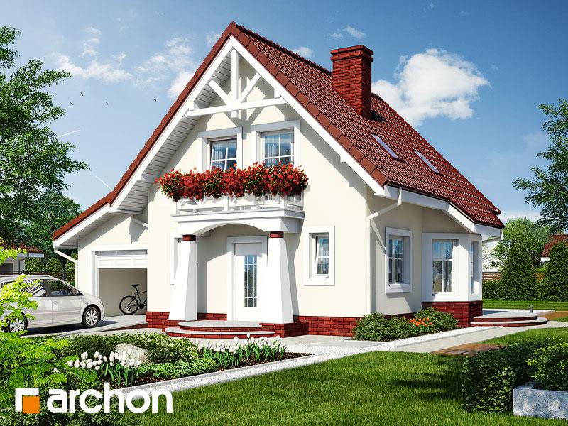 Проект дома ARCHON+ Дом в винограде (Г) - Визуализация 1