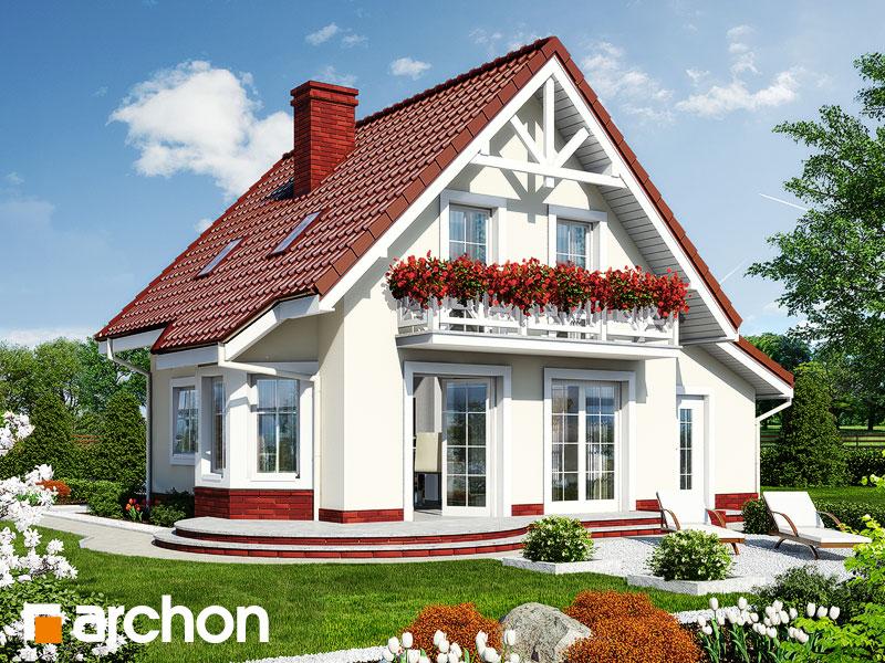 Проект дома ARCHON+ Дом в винограде (Г) - Визуализация 2