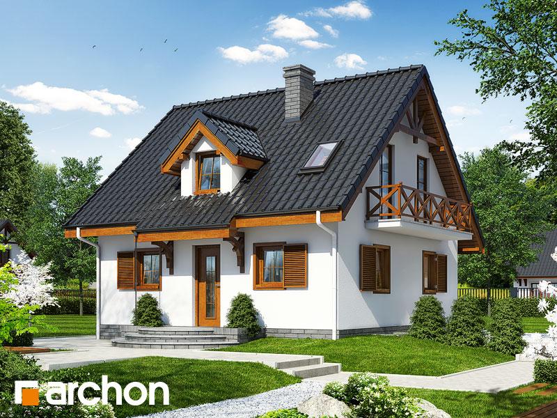 Проект дома ARCHON+ Дом в землянике 3 (П) - Визуализация 1