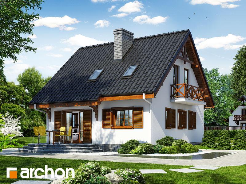 Проект дома ARCHON+ Дом в землянике 3 (П) - Визуализация 2