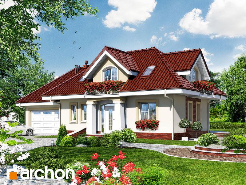 Проект дома ARCHON+ Дом в алоэ 3 - Визуализация 1