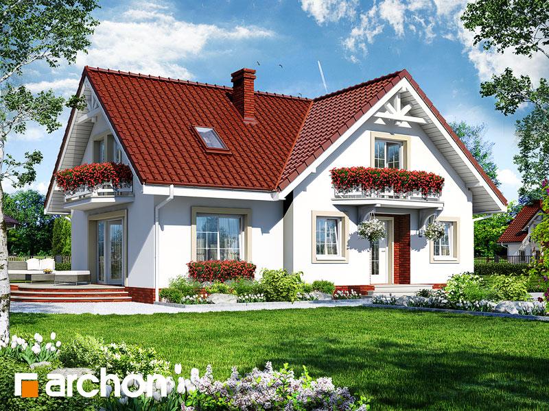Проект дома ARCHON+ Дом в кизиле - Визуализация 1
