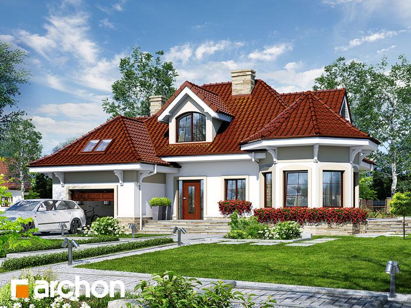 Проект дома ARCHON+ Дом под юккой 3 - Визуализация 1