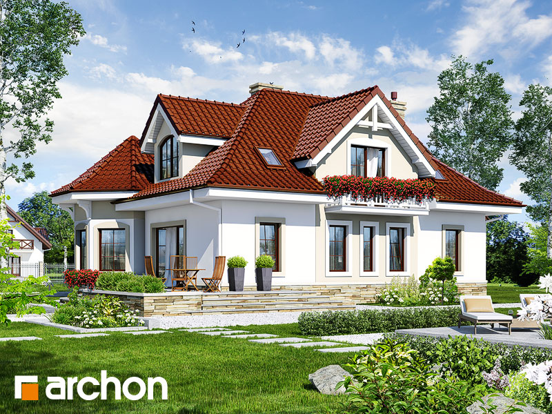 Проект дома ARCHON+ Дом под юккой 3 - Визуализация 2