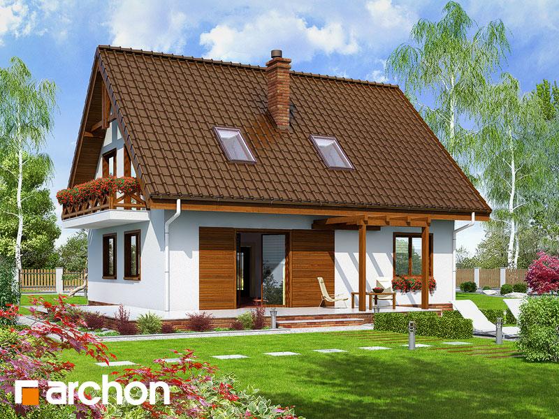 Дом в примулах (П) - Визуализация 2