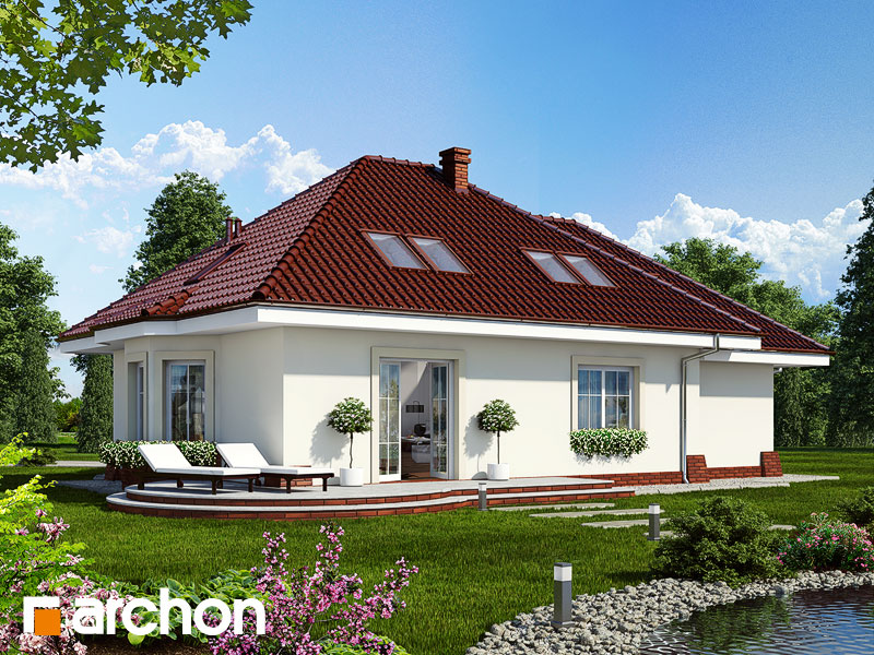 Дом в лотосах (Г) - Визуализация 2