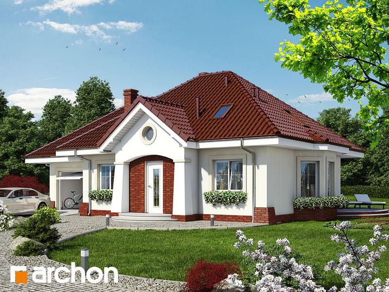 Проект дома ARCHON+ Дом в лотосах (Г) - Визуализация 1