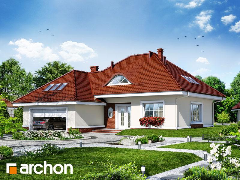 Проект дома ARCHON+ Дом в арбузах - Визуализация 1