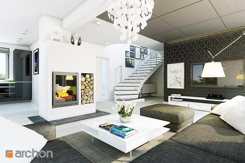 Проект дома ARCHON+ Дом в арбузах - Интерьеры