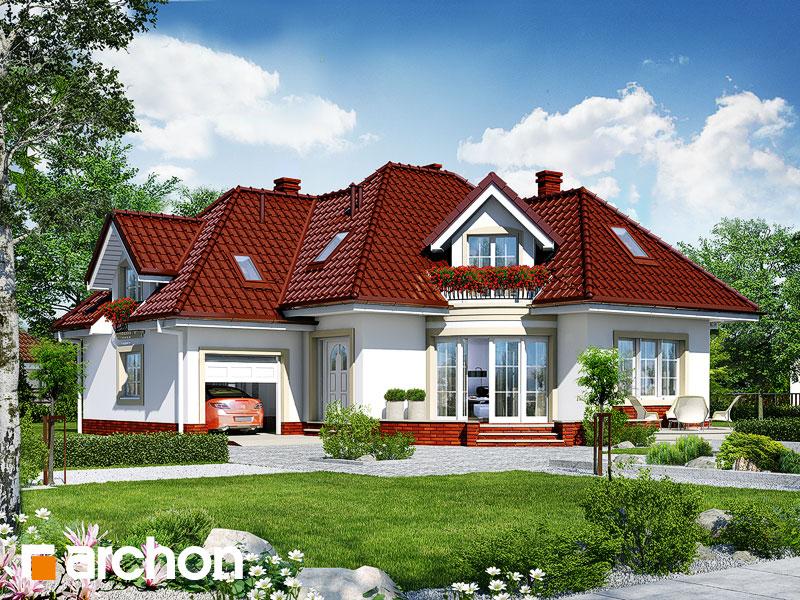 Проект дома ARCHON+ Дом в бересклете - Визуализация 1