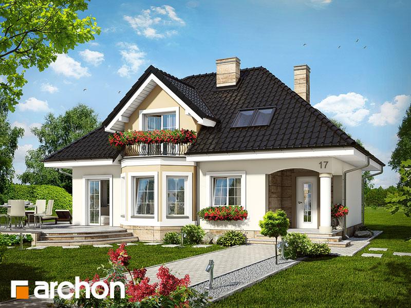 Проект дома ARCHON+ Дом в авокадо - Визуализация 1